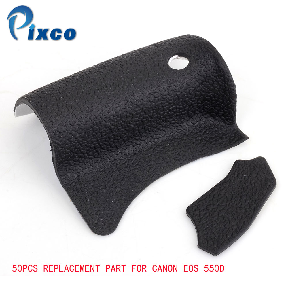 PIXCO 50-PCS Body Parts Body Front Back <font><b>Rubber</b></font> <font><b>Cover</b></font> Shell Replacement Part For <font><b>Canon</b></font> <font><b>EOS</b></font> <font><b>550D</b></font> Digital Camera Repair image