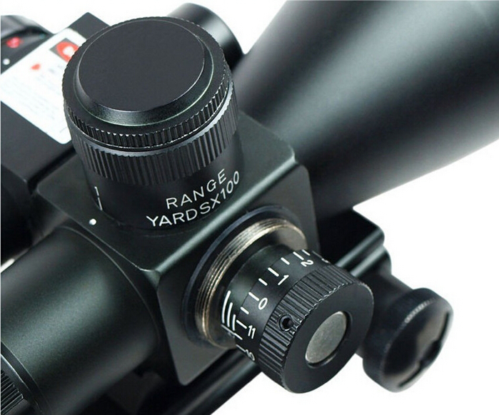 2.5-10X40 Tactical Rifle Scope with Red Laser 2