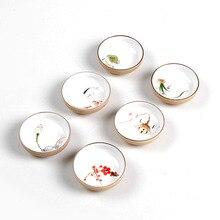 Посуда для напитков китайский чайный набор кунг-фу чайная чашка чашки ручная роспись керамический фарфор для Пуэр Улун чай слива/Лотос/золотая рыбка керамическая чашка