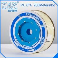 PU Air Pipe Tube Pneumatic Hose OD 6mm x4mm ID For Pneumatics 200M white