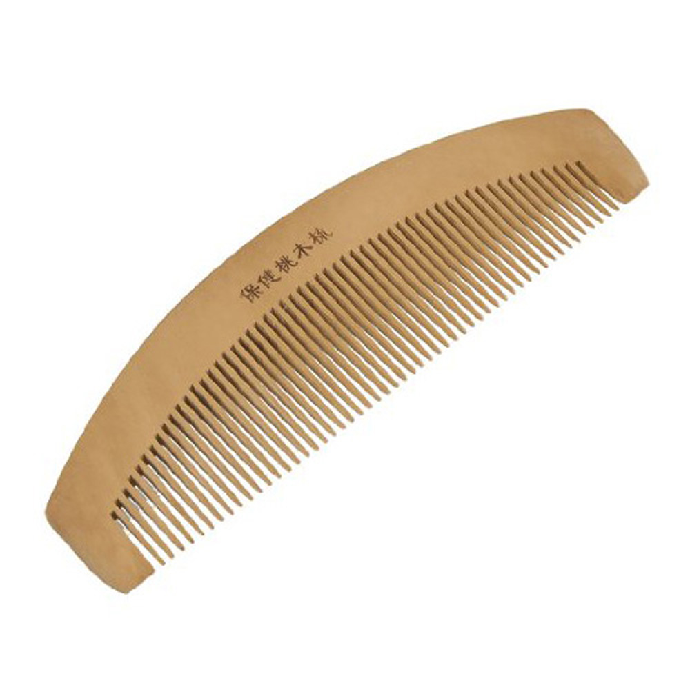 Hot! 6.5 Length Dual Head Wooden Toothed Anti-static Hair Comb For Women