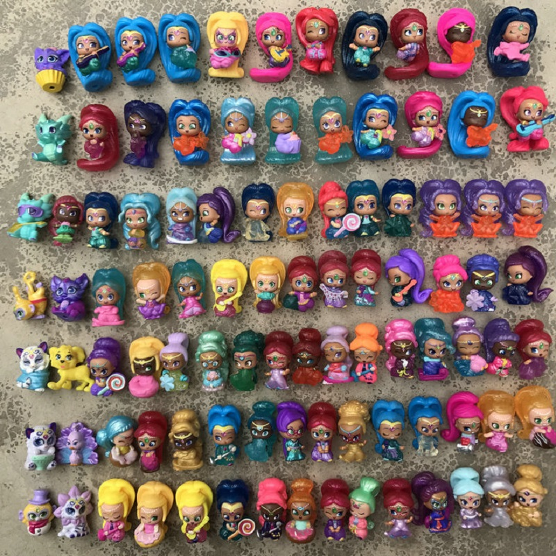 10pcs/set Shimmer Shine With Cute Figure Toy Set PVC Action Model Toy Halloween Play Games Toy For Children Toy& gift 10pcs set shimmer shine with cute figure toy set pvc action model toy halloween play games toy for children toy
