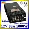 LED Power Supply 12V 80A 100 120V 200 240V AC Input Single Output Switching Power Supply
