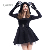 DJGRSTER New Sexy Animal Costume For Adult Cat Girl Cosplay Costume Halloween Costumes For Women Fantasia