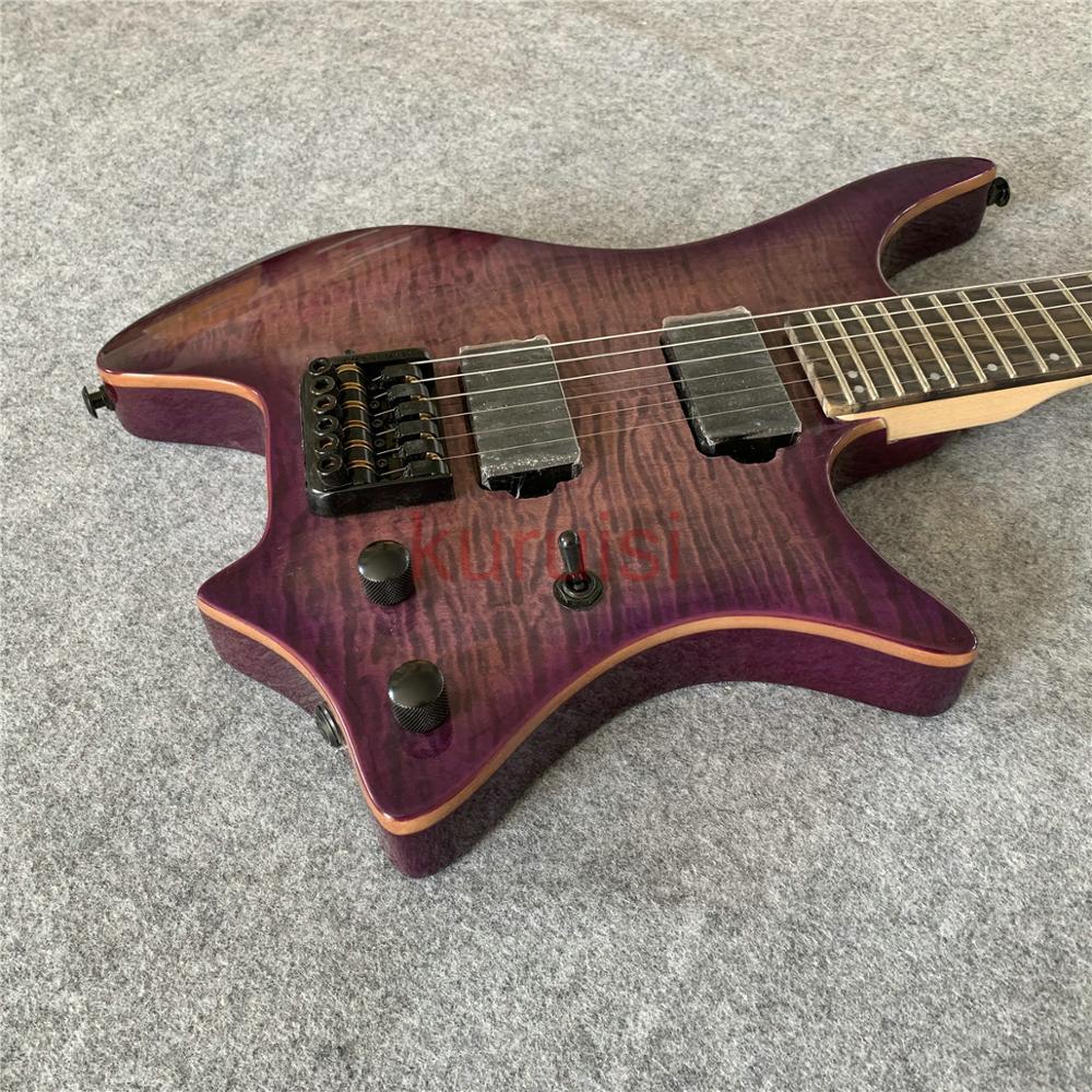 Madonna Ciccone style noble tigre violet guitare électrique, 24 caractère guitare, cadeau d'anniversaire à des amis, guitare de voyage.
