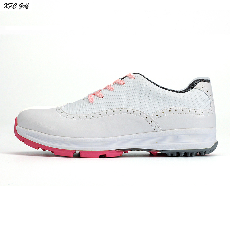 New golf ball shoes women's golf shoes slip-resistant waterproof breathable white golf sport shoes sneakers golf ball sample display case