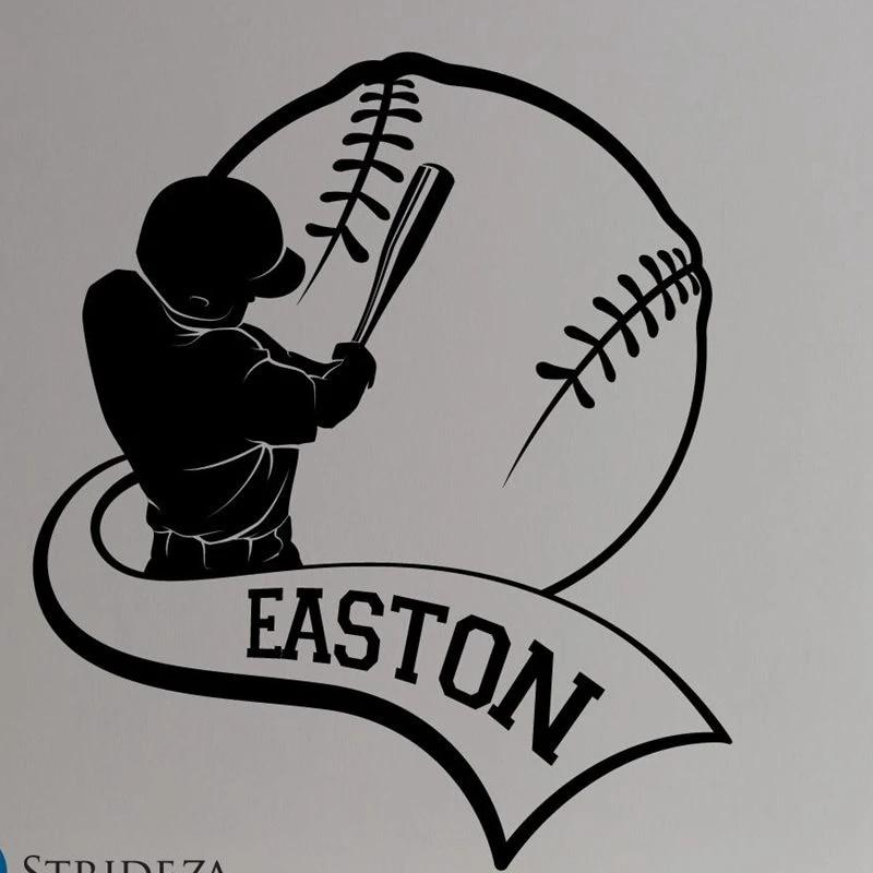 Baseball Vinyl Wall Decal or Car Sticker baseballst011ET