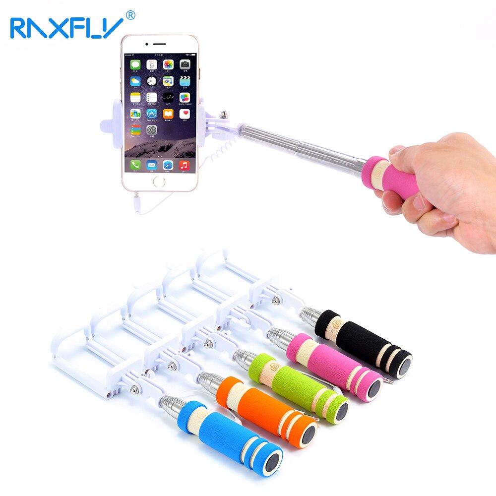 Raxfly Mini для селфи палка расширяемой Портативный монопод Штатив телефон в сложенном виде Камера селфи палка для iPhone 7 6 6 S плюс 5S Универсальный