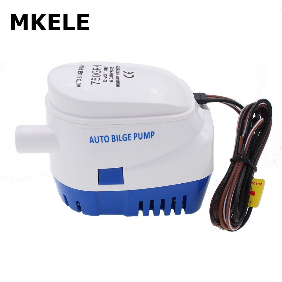 DC 12V 24V 750GPH Automatic Water Bilge Pump For Boat Submersible Auto Pump With Float Switch  Marine / Bait Tank / Fish