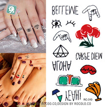 2016 Hot Sale Temporary Tattoo Hot Little Fresh And Lovely Beach Elements Of The Same Sex With Water Tattoo Stickers Rc2310