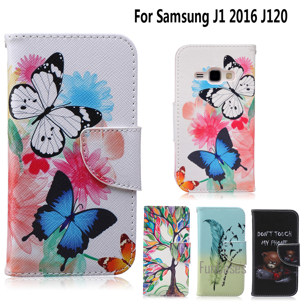 Phone Stand Case for fundas Samsung Galaxy J1 2016 Cover Case for coque Samsung J1 2016 Case J1 2016 J120 J120F + Card Holder