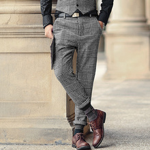 High Quality New Mens Winter&Spring skinny pants Men Solid Color woolen Suit Pants Men Business Formal Casual Trousers K681 2