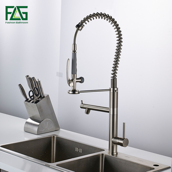 Pull out Kitchen faucet Sink mixer Faucet Deck Mount Pull Out Dual Sprayer Nozzle Hot Cold Mixer Water Taps ulgksd kitchen faucet black brass pull out sprayer vessel sink faucet deck mounted hot and cold vanity faucets mixer water taps