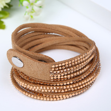 Free shipping Fashion 12 Layer Leather Rhinestone Bracelet! Charm Bracelets Bangles For Women Jewelry Christmas Gifts цена