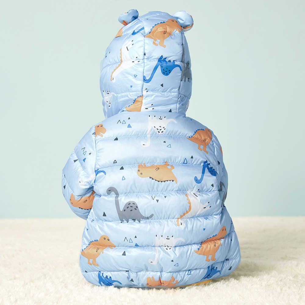 Balabala/легкий пуховик для маленьких девочек и мальчиков; стеганая куртка с капюшоном для новорожденных; зимняя куртка с капюшоном