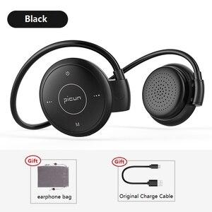 Image 4 - Picun T6 אוזן וו אלחוטי Bluetooth אוזניות ספורט עמיד למים אוזניות MP3 הפחתת רעש אוזניות תמיכת TF כרטיס