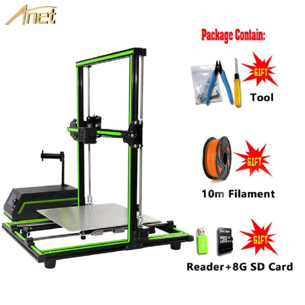 Anet E10 E12 3D Printer Aluminium Frame Easy Assembly Large Printing Size Impresora 3D Printer DIY Kit with 10M PLA Filament 1 75mm pla 3d printer filament printing refills 10m
