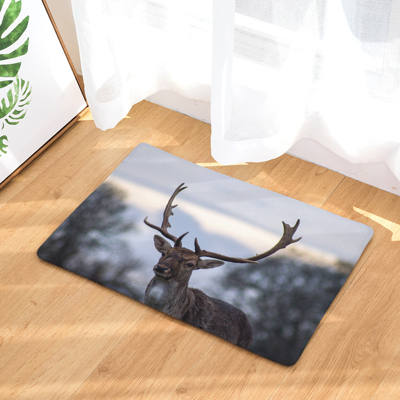 CAMMITEVER Wild Animal Deer Soft Area Rug Mats Home Decor Carpet Doormat Beautiful Scenery Drop Shipping Factory Supply Directly