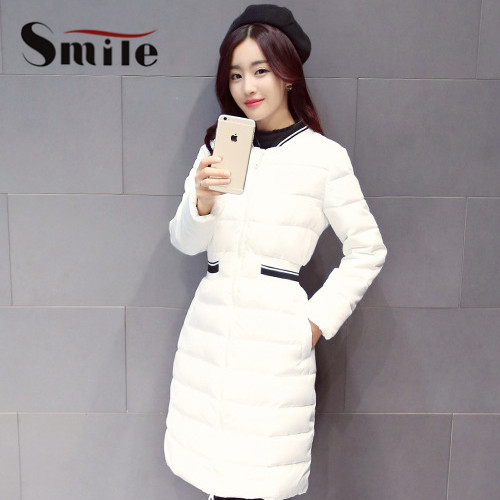 Women Warm Winter Padded Coat Lady Autumn Knee Length Long Slim ...