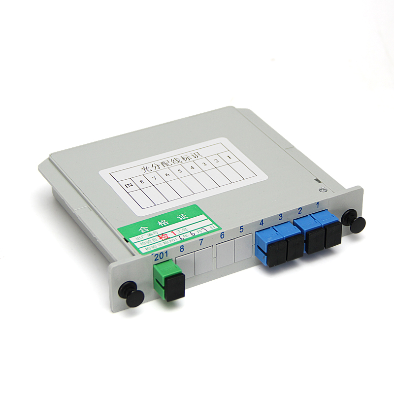 1X4 Splitter Fiber Optical Box FTTH PLC Splitter box with 1X4 Planar Waveguide type Optical Splitter SC APC