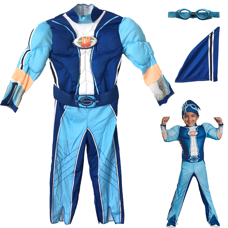 Children boy The Avengers muscle funny blue pilot aviator for 3-4 years old baby kid