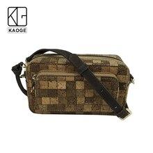 KAOGE Luxury Vegan cork  mini Waist packs for women Handmade fashion wood female waist bag 2019 цена