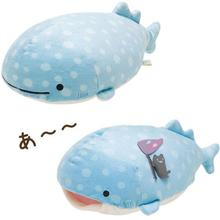 Kawaii San-x Cartoon Blue Whale Plush Toys Doll Cute Sea Animal Soft Stuffed Animals Pillow Kids Children Nap Pillow Girls Gifs