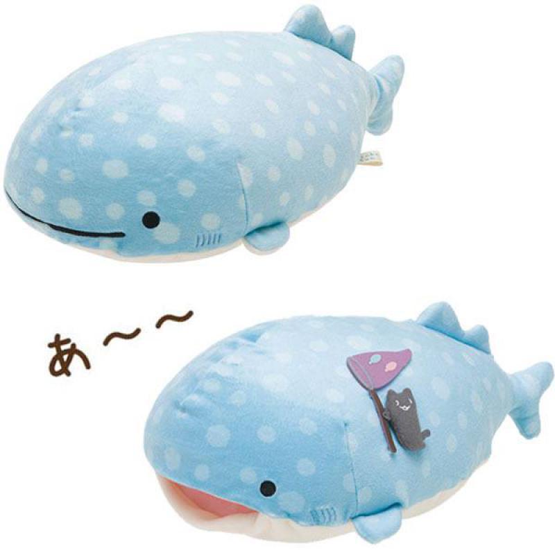 Kawaii san-x dessin animé baleine bleue jouets en peluche poupée mignon Animal de mer doux animaux en peluche oreiller enfants enfants sieste oreiller filles Gifs