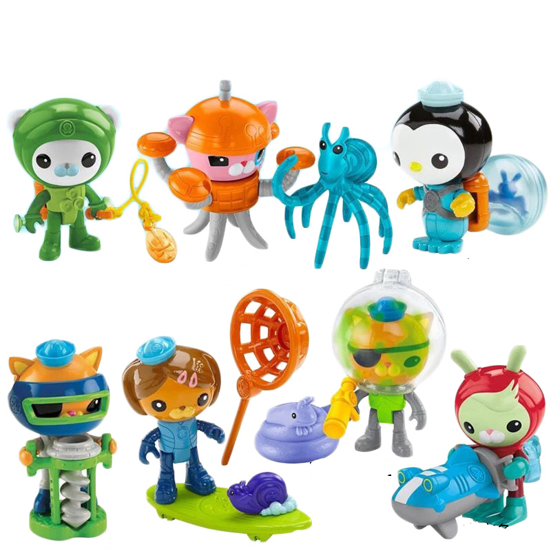 Newly come! 8 set Octonauts action figures child toy 6-8cm free shiping by spsr 1 set of chinese edition original octonauts oktopod splelset figure toy with original box child toys