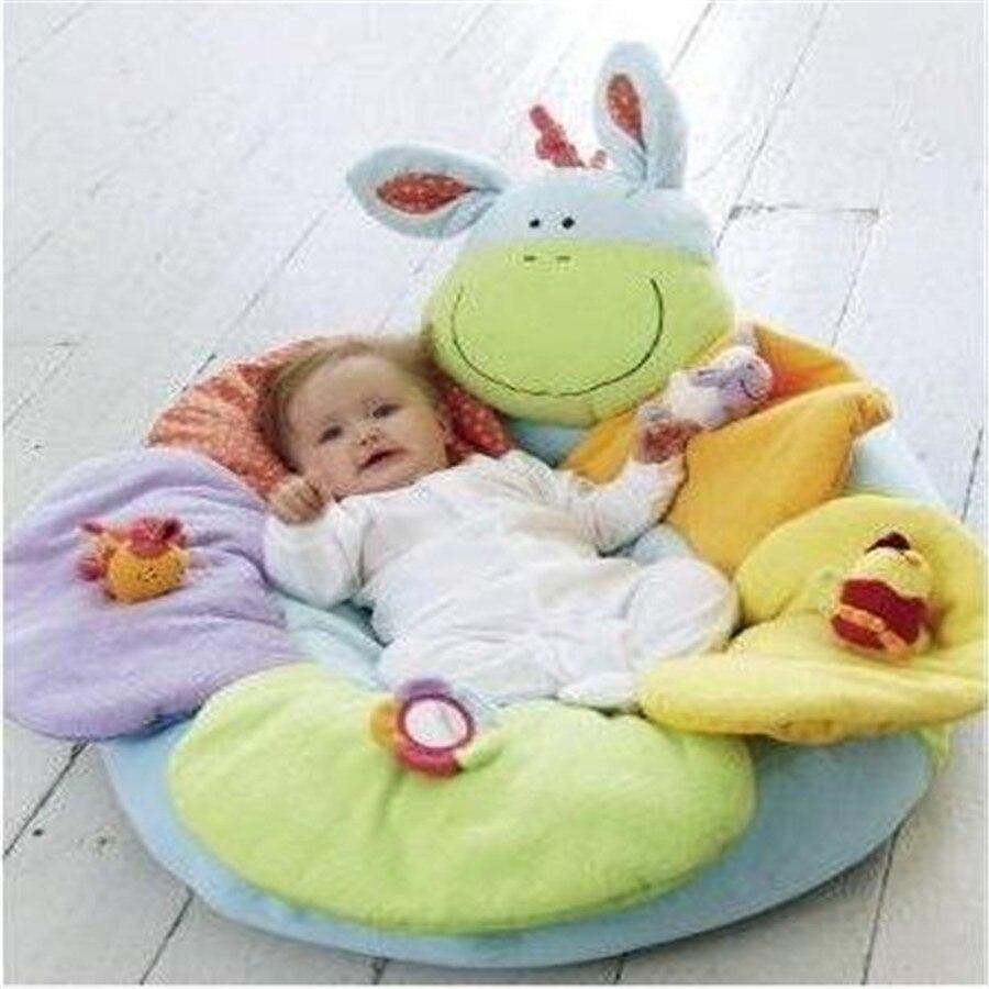 En gros fleur ferme assis-moi confortable gonflable bébé canapé siège jouer tapis infantile doux canapé 6 styles 10 pcs/lot