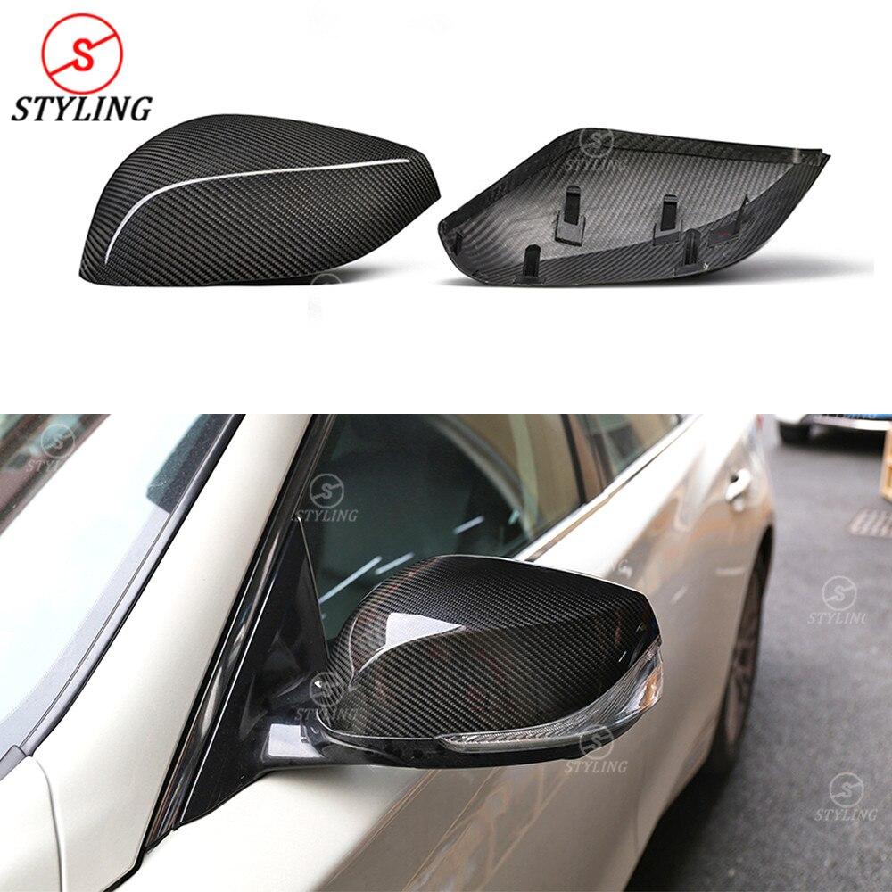 For Infiniti Q70 QX30 Dry Carbon Fiber Mirror Cover Rear