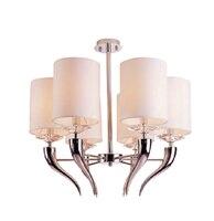 European style iron fabric horn pendant light fabric dining rooms fashion horn bar hanging lighting