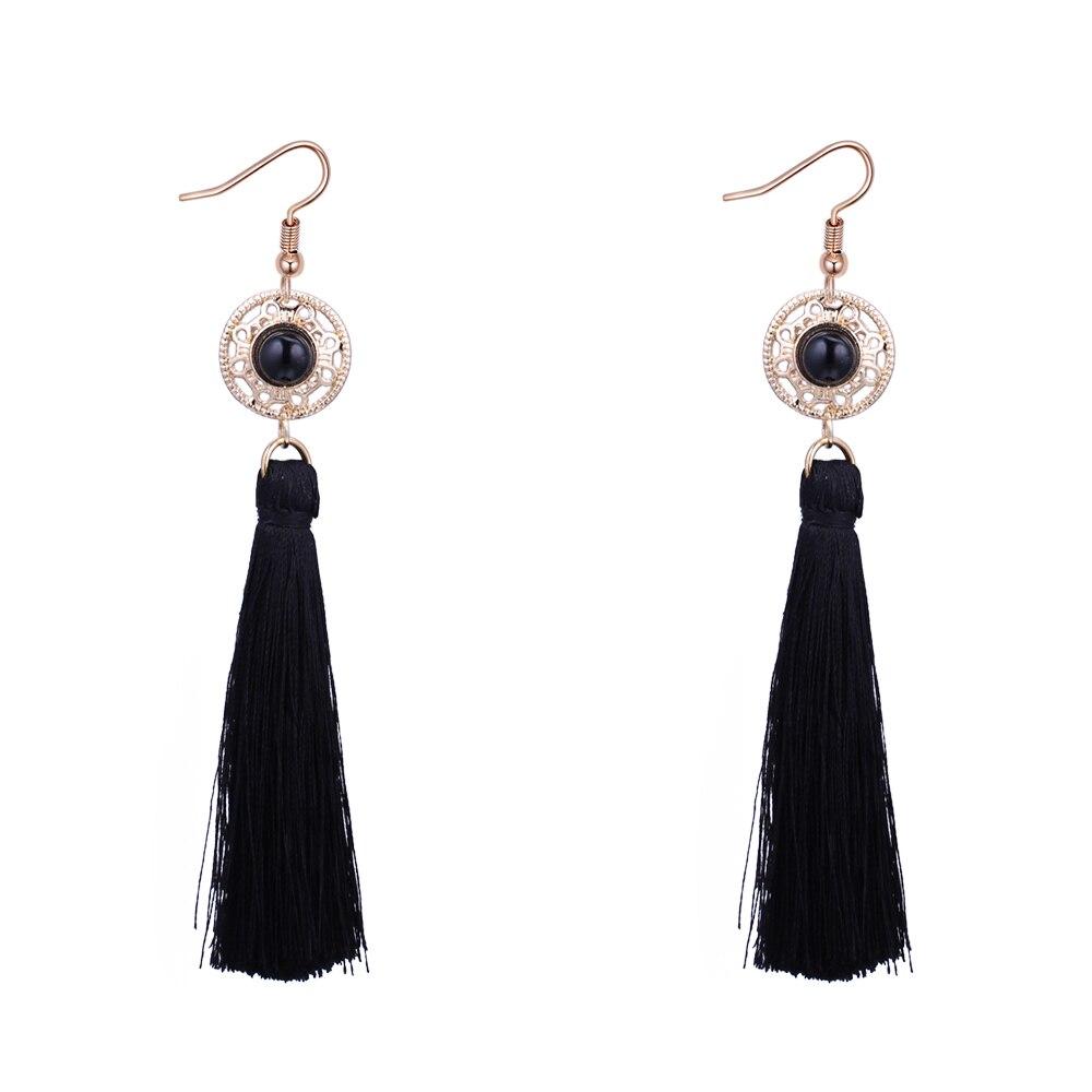 f20ebb563 Silk Thread Earrings Tassel Long Earrings Gothic Vintage Jewelry Free  Shipping Lady Cheap Earrings Online Chinese Store 5 Colors-in Drop Earrings  from ...