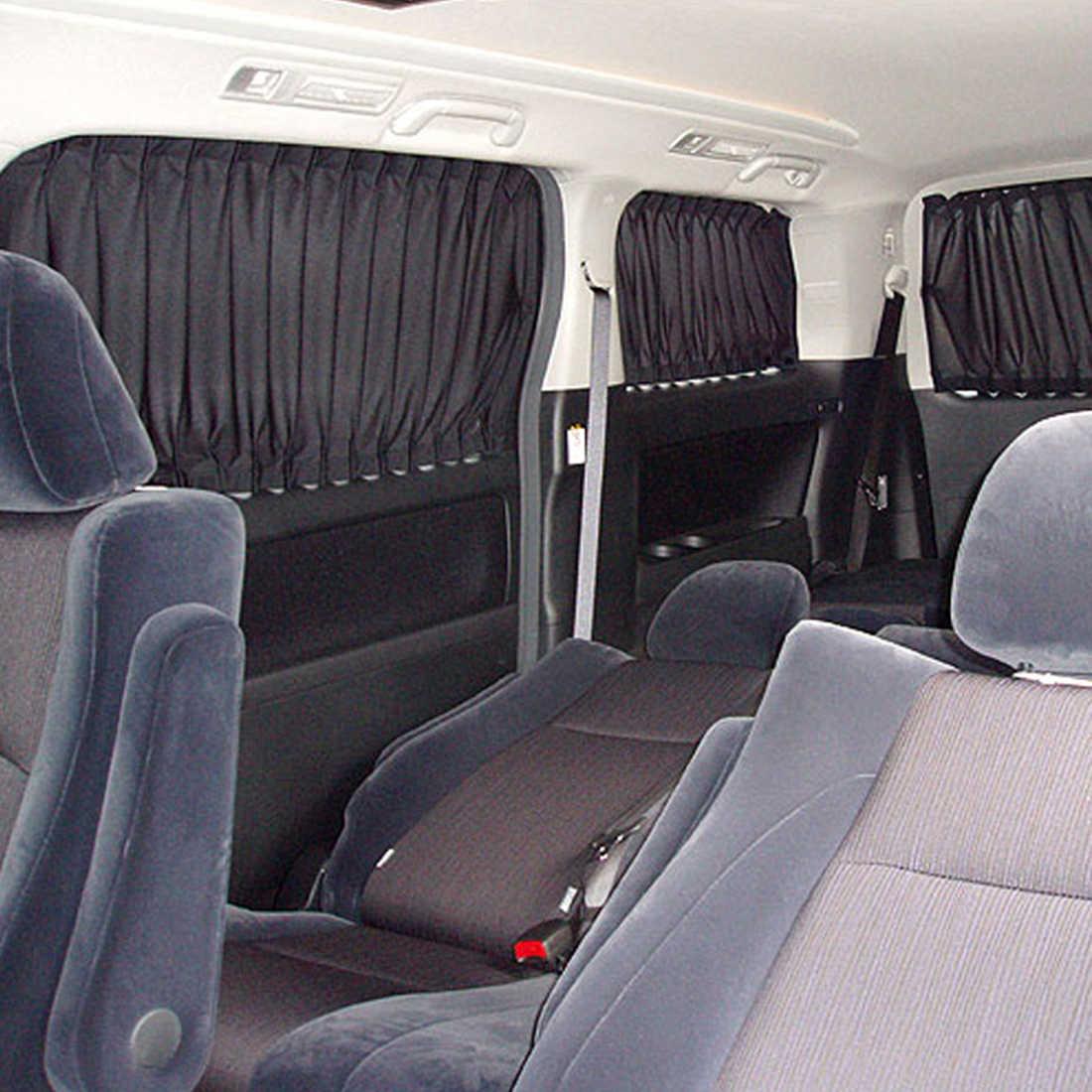2pcs รถ Universal คู่อลูมิเนียม TRACK ประเภทรถผ้าม่านอลูมิเนียมยืดหยุ่นรถด้านข้างหน้าต่างม่านบังแดดอัตโนมัติ Windows