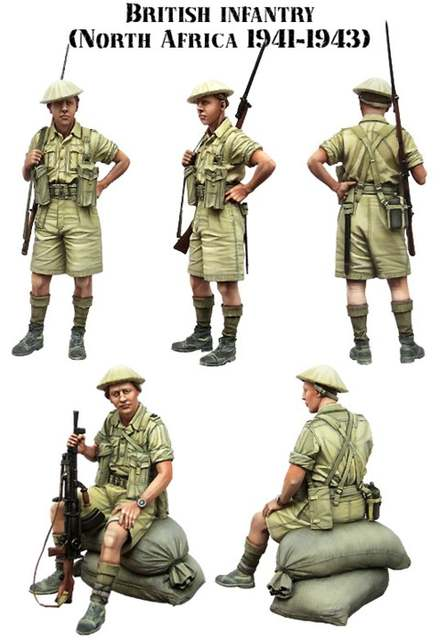 US $15 5 |1/35 scale WW2 British soldiers in north Africa 2 people WWII  miniatures Resin Model Kit figure Free Shipping-in Model Building Kits from