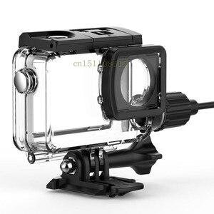 Image 3 - חדש מקורי SJCAM אופנוע עמיד למים מקרה עבור SJCAM SJ8 פרו/בתוספת/אוויר טעינה דיור פעולה מצלמה עבור SJ8 מטען מקרה