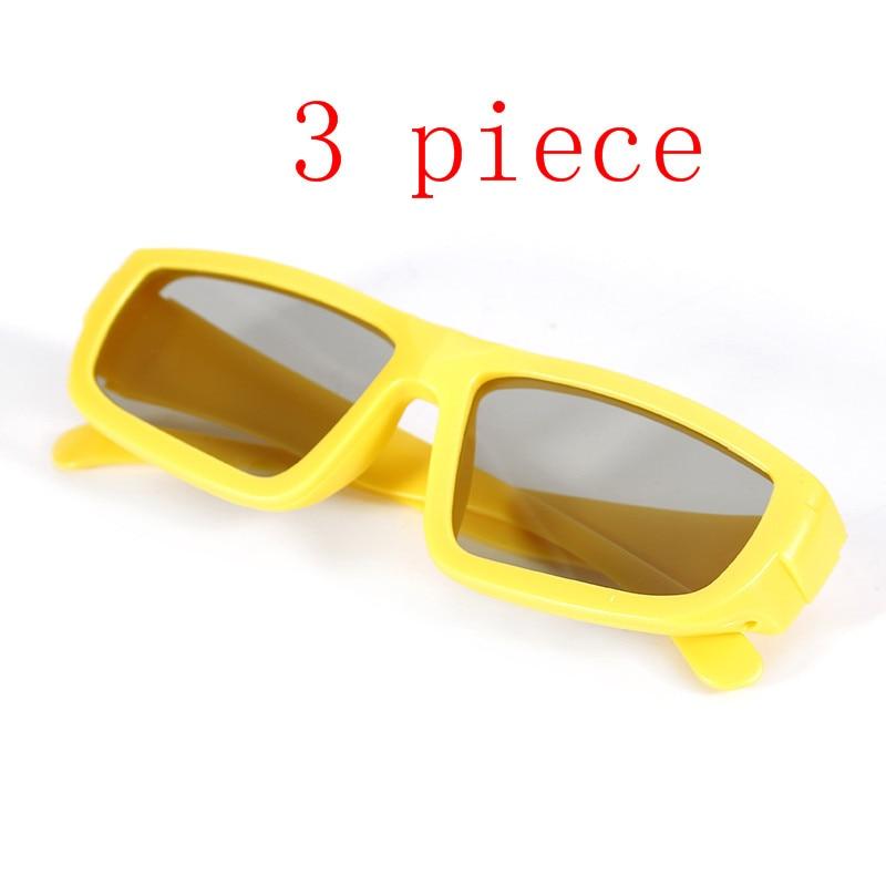 2018 new  Film Glasses  3D Glasses Children Size Circular Polarized Passive 3D Glasses For Real D 3D TV Cinema Movie