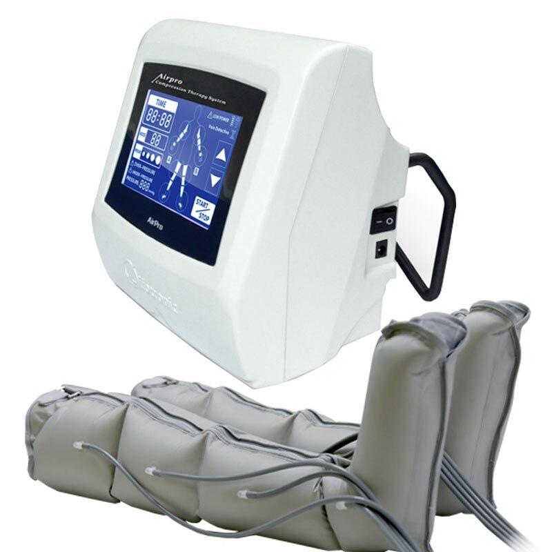 Tragbare luft körper druck therapie lymphdrainage abnehmen luftdruck therapie maschine
