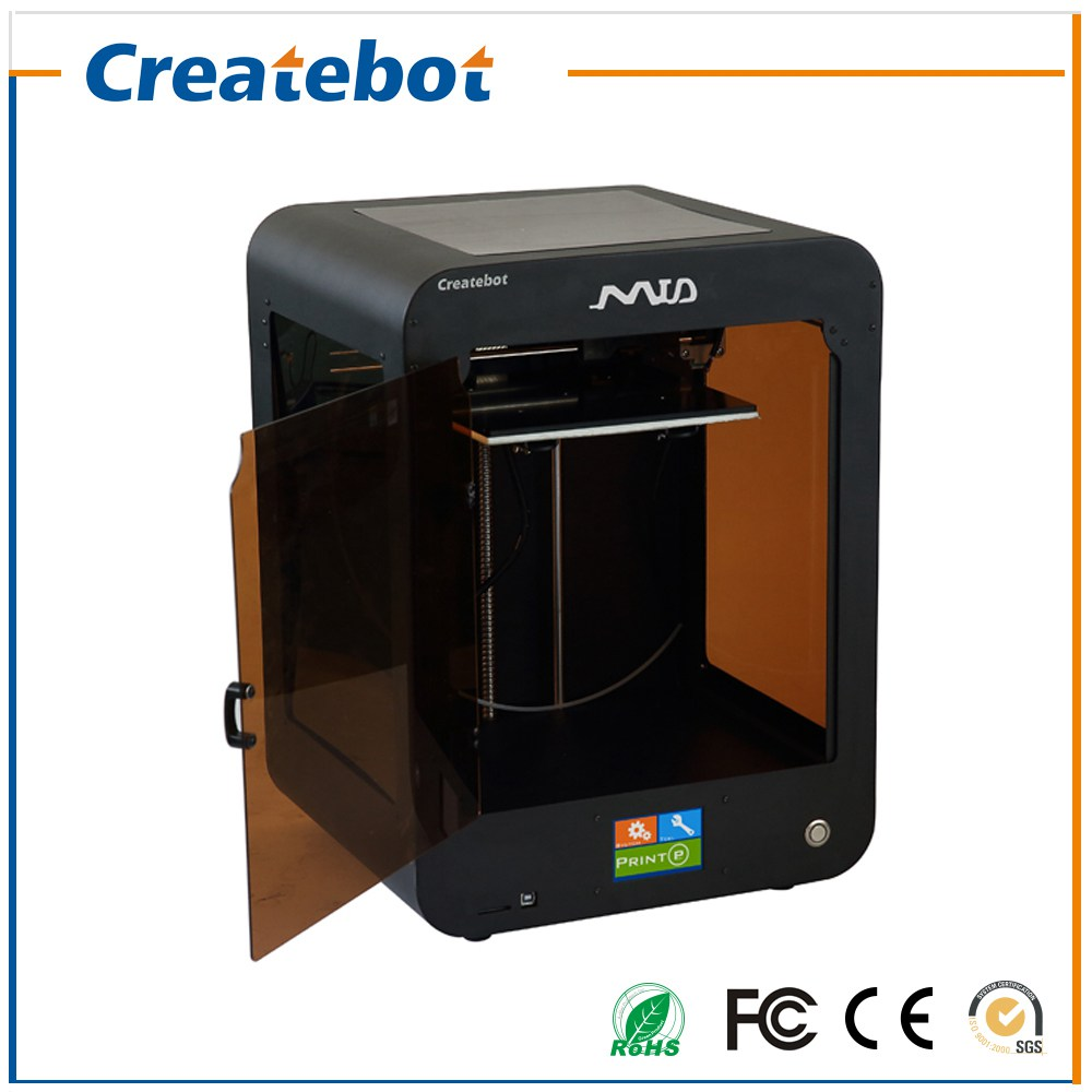 Full Metal Createbot Mid 3D Printer Kit Touch Screen Dual Extruder Semi-Auto Leveling Printing Size 205*205*250mm impressora 3d