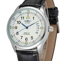 WINNER WATCH Trendy Fashion Roman Vortex Dial Low-key Luxury Men's Wrist Watch Mechanical Watch Six Models Can Choose