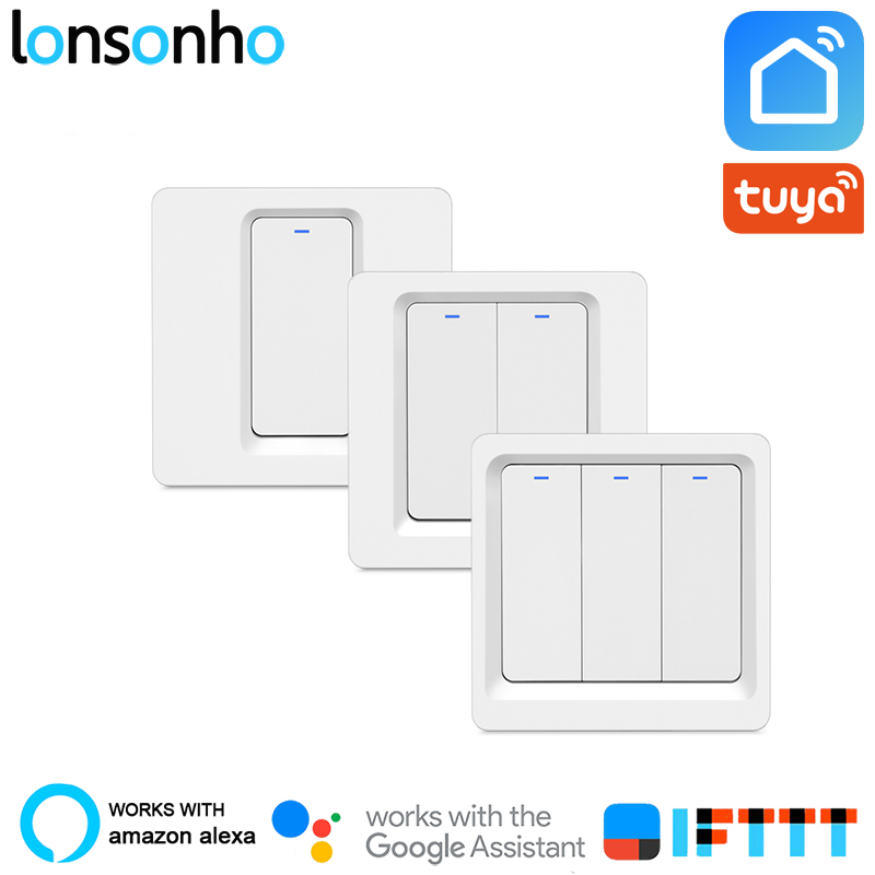 Lonsonho Wifi Switch Smart Switch 220v Smart Home Remote Wireless Light Switch Module Works Alexa Google Home Tuya Smart LifeLonsonho Wifi Switch Smart Switch 220v Smart Home Remote Wireless Light Switch Module Works Alexa Google Home Tuya Smart Life