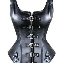 Bustier-Corset Bondage-Rings Mistress Fetish Sexy Costume Buckled Playsuit Role-Play