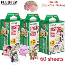 Original Fuji Fujifilm instax mini película 8 60 hojas de Borde blanco película para Fujifilm mini 8 7 s 25 50 s 90 Cámara Instantánea de Fotos De Papel
