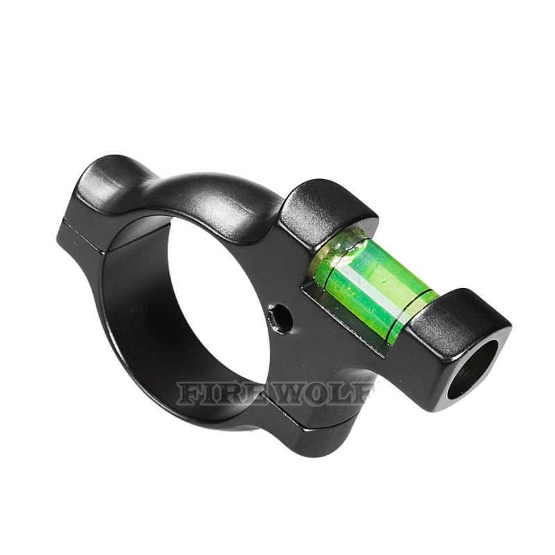 FIRE WOLF тактическое кольцо уровня пузырьков воды для 30 мм трубчатый прицел прочный сплав сталь держатель баланса крепление рельса охотничий аксессуар