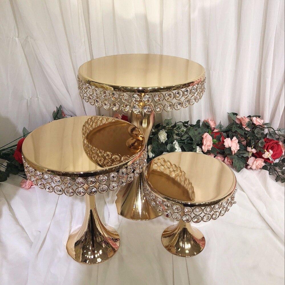 Cristal de luxe mariage grand gâteau centres de table présentoir support fondant macaron cupcake table candybar table gâteau décoration