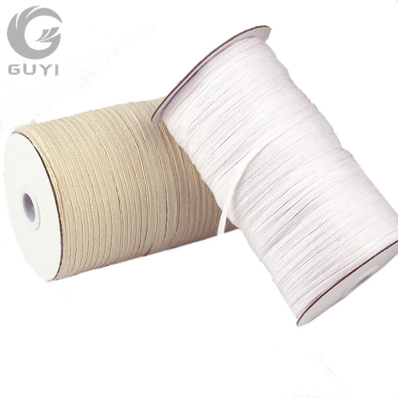 5mm/7mm Cotton Webbing Plain Weave Cotton Tape Eco-friendly Cotton Belts DIY Sewing Cotton Tapes 220/280meter/Roll