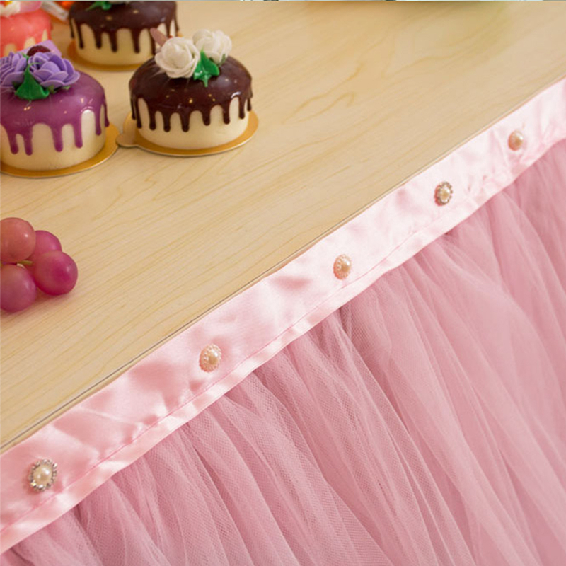 High Quality Parties Tulle Table Skirt Baby Shower Decor Fantastic ...