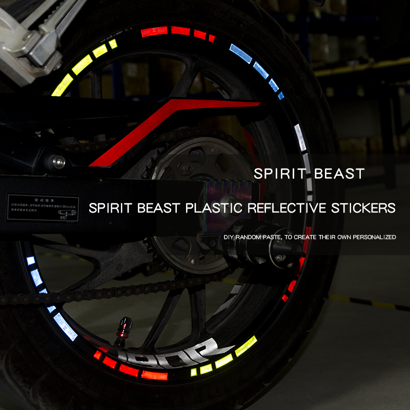 Motorcycle Tyre Paste Reflective Stickers Reflective Wheels Stickers Motocross Decorative Accessories Motor Color Body Stickers