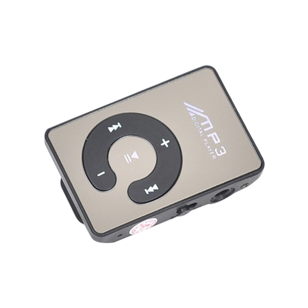Music Clip Digital Portable Waterproof Mini C Button TF Card Mirror Sports MP3 Player