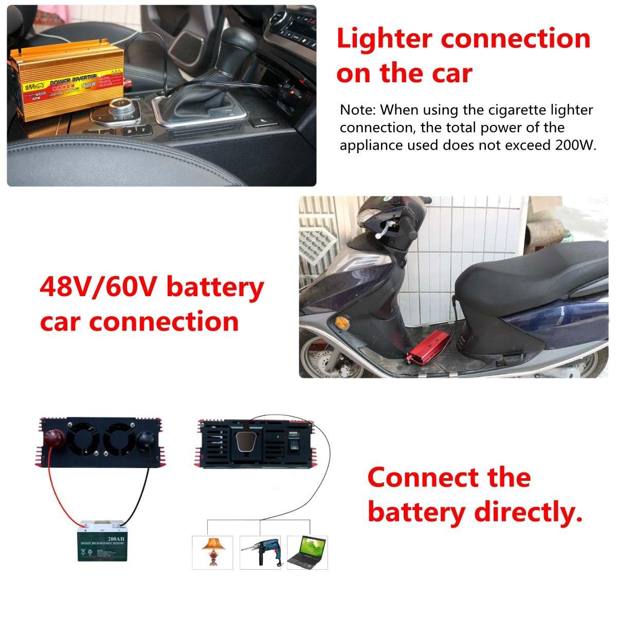 1500W Pure Sine Wave Inverter DC12V/24V/48V To AC220V 50HZ Power Converter Booster For Car Inverter Household DIY 19